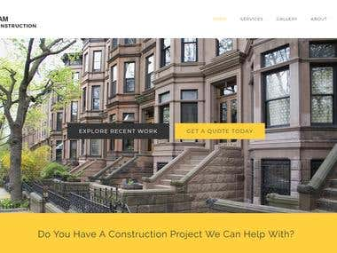 wordpress construction business website