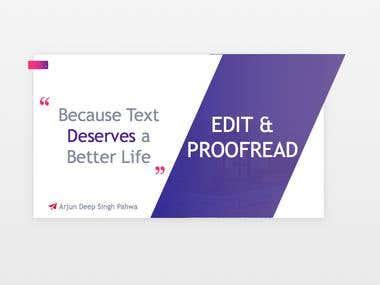 Rewriting, Editing & Proofreading