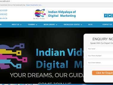 Website Development - Indian Vidyalaya of Digital Marketing