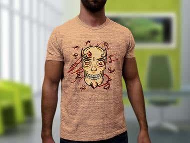 Skull Illustration Tshirt