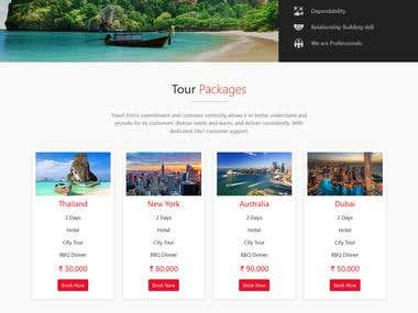Tours and Travel Responsive Website