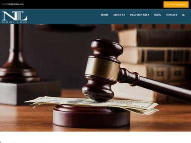 Lawyer website made with wordpress