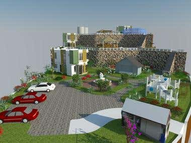 3D RENDERING OF SITE PLAN (INDIAN CLIENT)