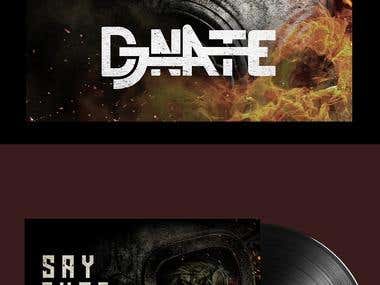 DJ NATE Dubstep Album Designs