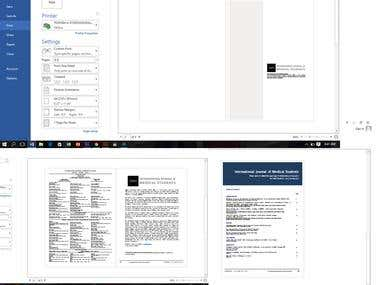 Create a word template for scientific articles from a pdf