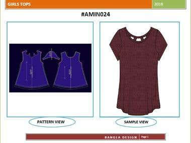 LADIES CREW NECK T-SHIRT WITH PATTERN & SAMPLE DESIGN