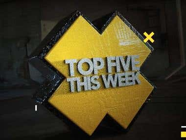 Top Five This Week Youtube Intro for The Djeuce