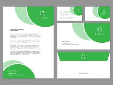Stationary and Logo Design for GlowSPA