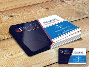 Business Card Design For Bide