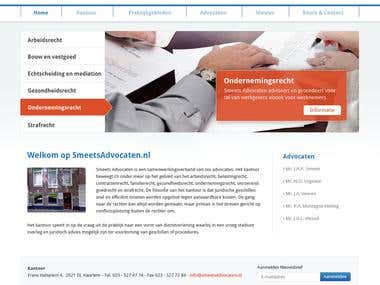 Smeets Advocaten website deisgn.