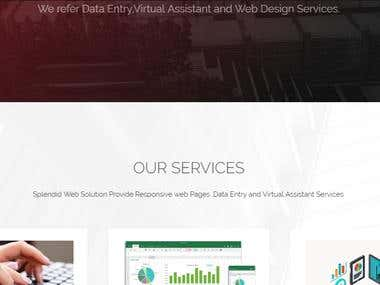 Html and PHP web design, word press and excel entry