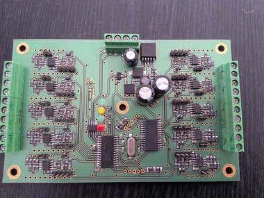 Analog output module controlled with MODBUS/RS485