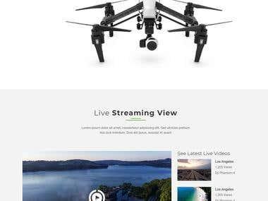 Website design for a drone company