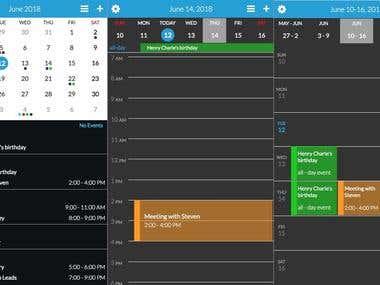 Axure mobile calendar kit