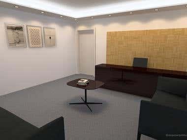 Interior design of reception for office in São Paulo, SP