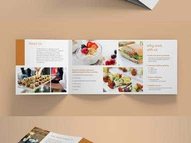 Simple and elegant brochure for catering and events company