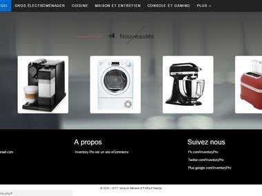 Inventory Pro : E-Commerce website in php