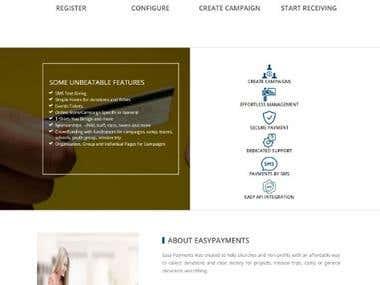 Non profit Donation Website