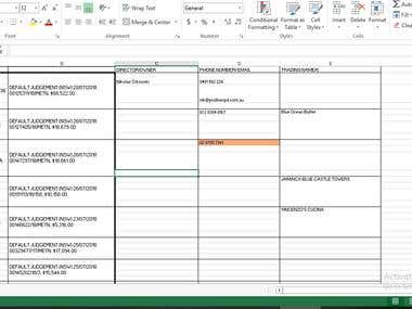 finished data entry web scraping job 4