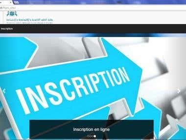 Pre-registration CakePHP application in FSJES-Meknes
