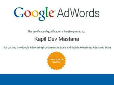 Certified Google Adwords, PPC Expert