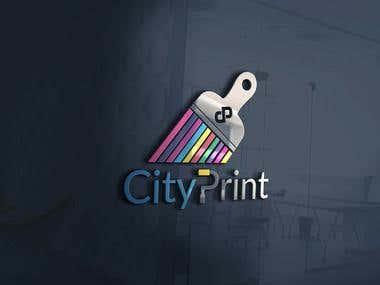 City Print logo design