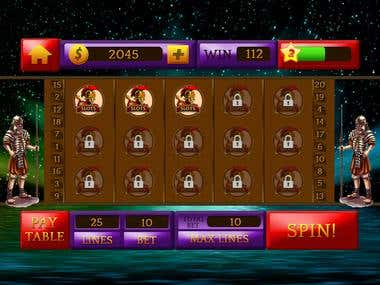 User Interface Design for Slot Game
