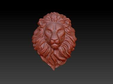 Lion Head 3D modeling