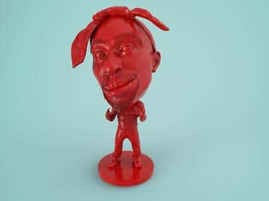 Tupac 2pac Booble Head 3dprint