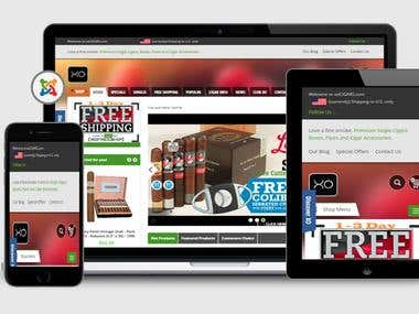 Joomla Virtuemart Website