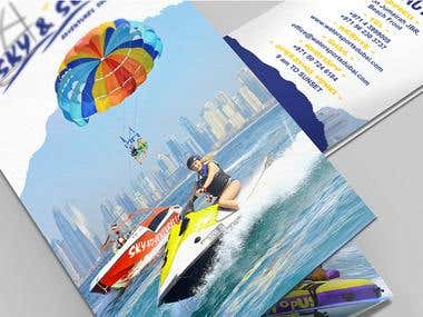 Design Tri-Fold Brochure for water sports