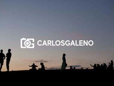 Logo para fotografo profesional - Carlos Galeno