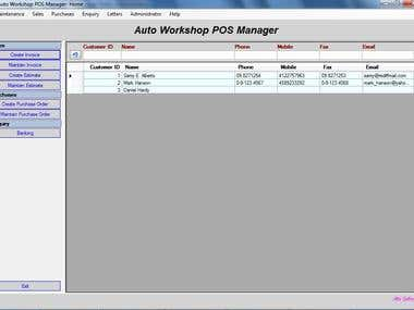 POS - Autoworkshop Manager