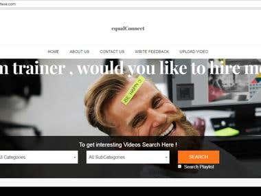 Developed Video website in Laravel