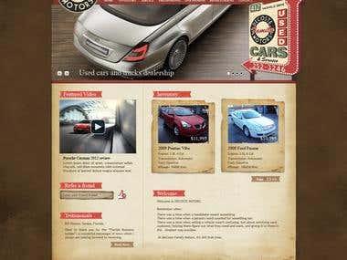 Decoste Motors UI Design