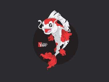 Koi Fish Mascot