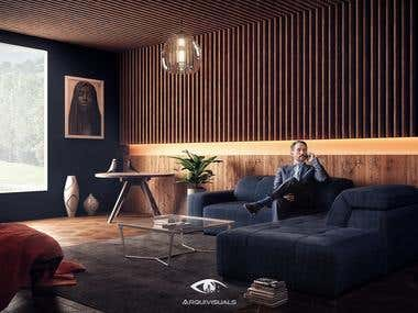 0_Interior design and photorealistic 3d Rendering_0