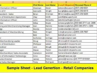 Lead Generation for Retail Company