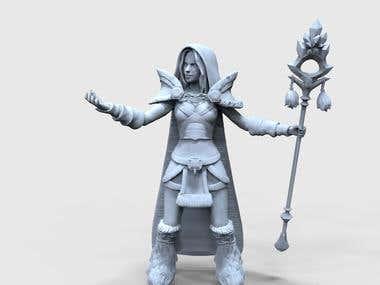 Crystal Maiden sculpt