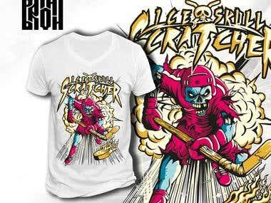 "T-shirt design ""Ice skull scratcher"""