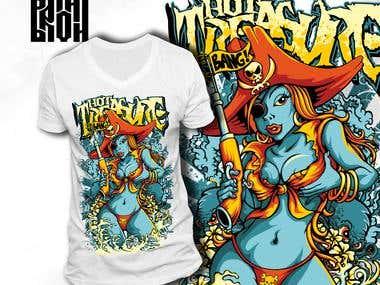 "T-shirt design ""Hot treasure"""