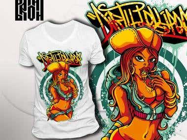 """T-shirt design """"Dirty lollipop"""""""