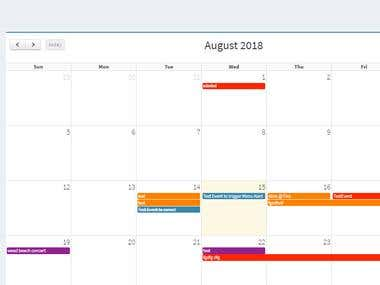 Event Management System Via Full Calender