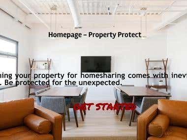 Homepage For A Property Insurance Company