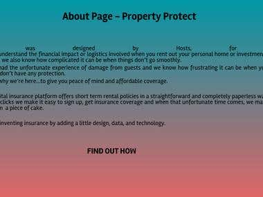 About Page For A Property Insurance Company