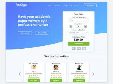 Papercheap Homepage Redesign
