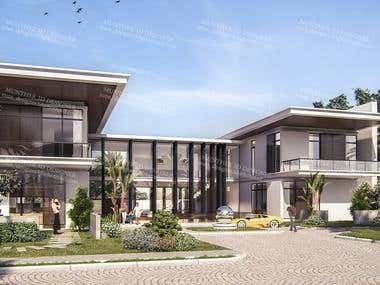 Exterior design and 3D realistic visualization