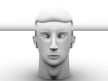 3D human face
