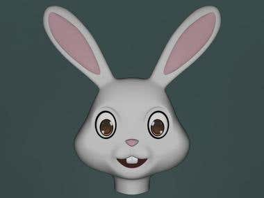 3D Rabbit Face