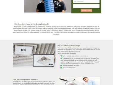 Responsive Wordpress landing Page.
